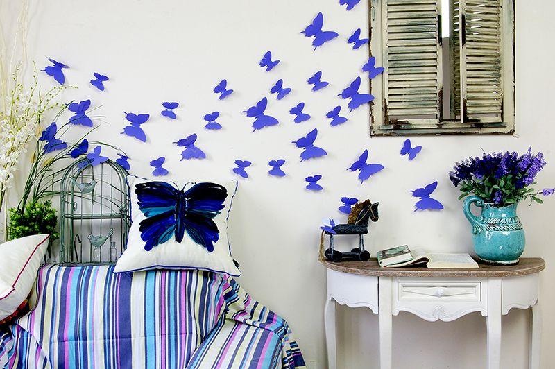 Muurstickers Slaapkamer 3d : Home / 3D Vlinders / 3D Vlinders Paars