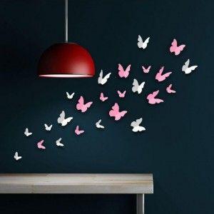 3D-Vlinders-Roze-Wit-1