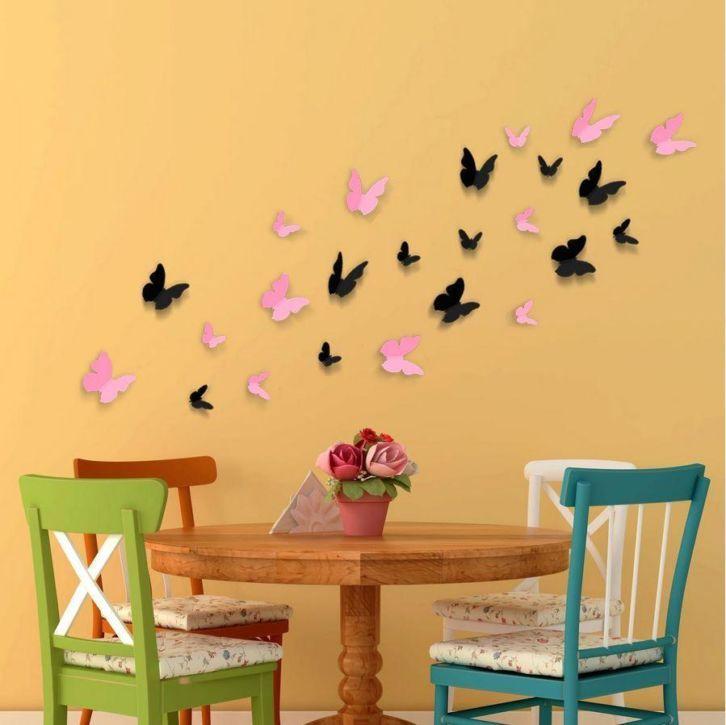 3D-Vlinders-Roze-Zwart-1