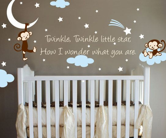 Exclusive Muursticker Twinkle Little Star Aapjes