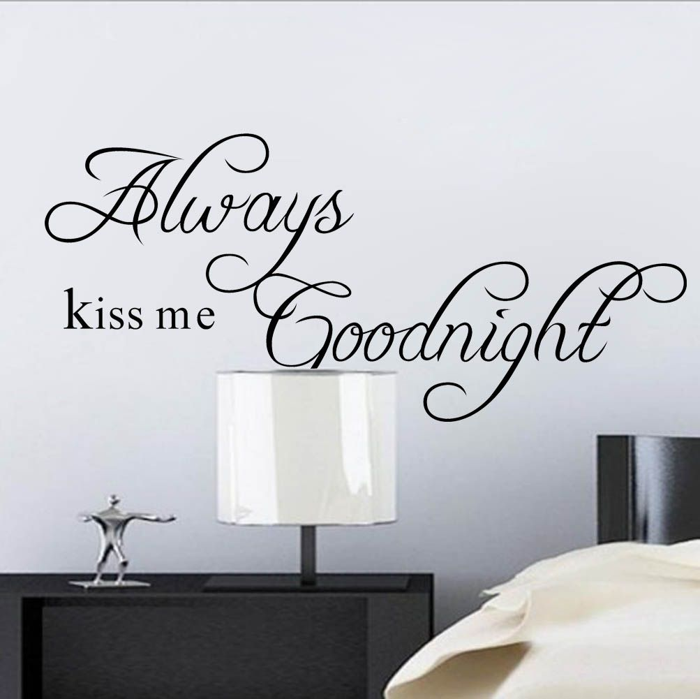muursticker always kiss me goodnight muurstickers