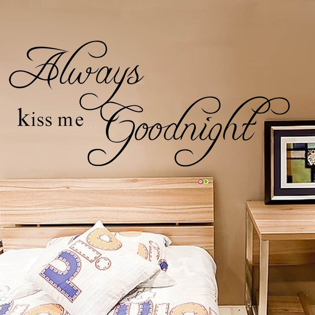 Muursticker Always Kiss Me Goodnight Muurstickers