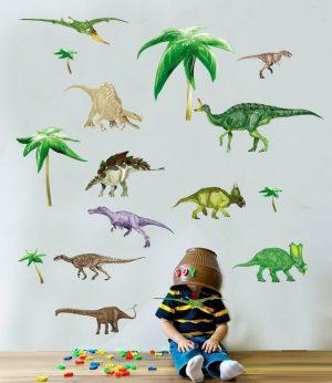 Muursticker-Dinosaurussen-888x1024