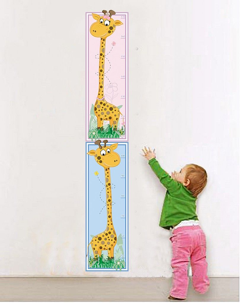 Muursticker-Giraffe-Groeimeter-810x1024