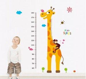 Muursticker-Groeimeter-Giraf-2