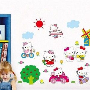 Muursticker-Hello-Kitty