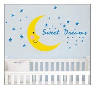 Muursticker-Maan-Sweet-Dreams