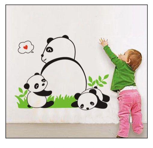 Muursticker-Panda-Beertjes