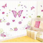 Muursticker-Vlinder-Roze-3