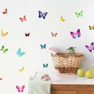 Muursticker-Vlinders