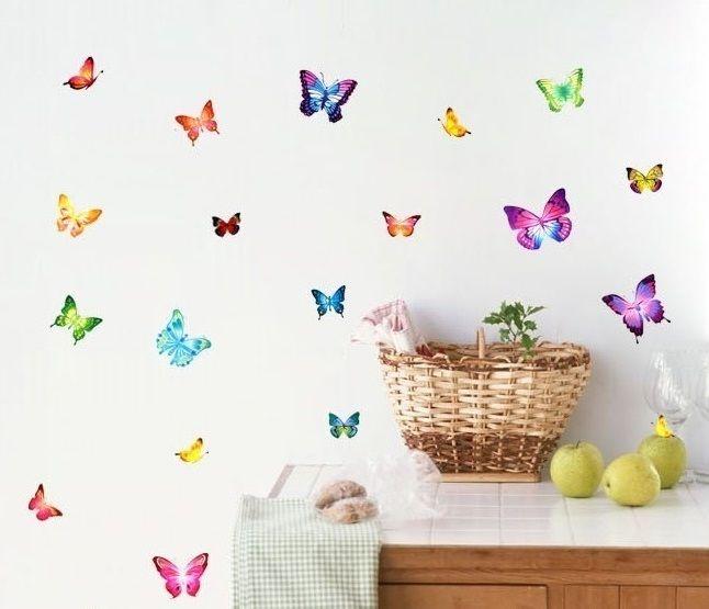 Muursticker Vlinders - Muurstickers Babykamer & Kinderkamer