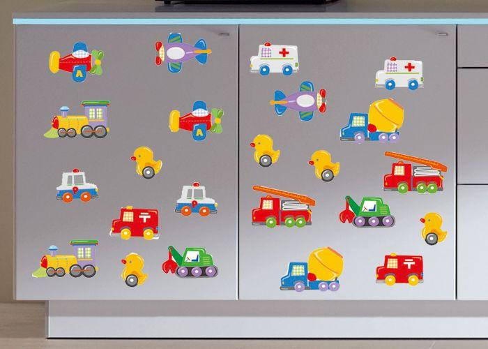 Kinderkamer Zonder Raam : ... Voertuigen Kinderkamer - Muurstickers ...