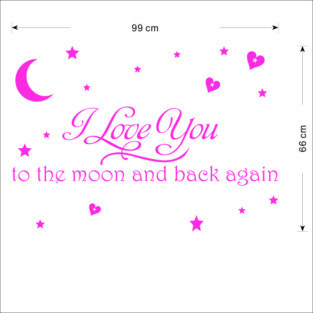 i you to the moon and back diverse kleuren
