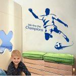 Muursticker Voetballer Blauw (1)
