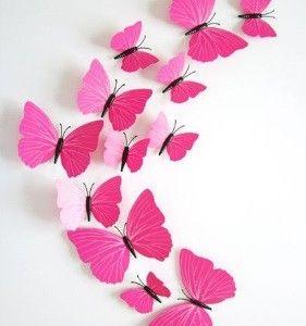 Vlinders 3D Fuchsia