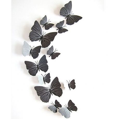 Vlinders 3D Zwart