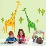 Muursticker Giraffen (2)