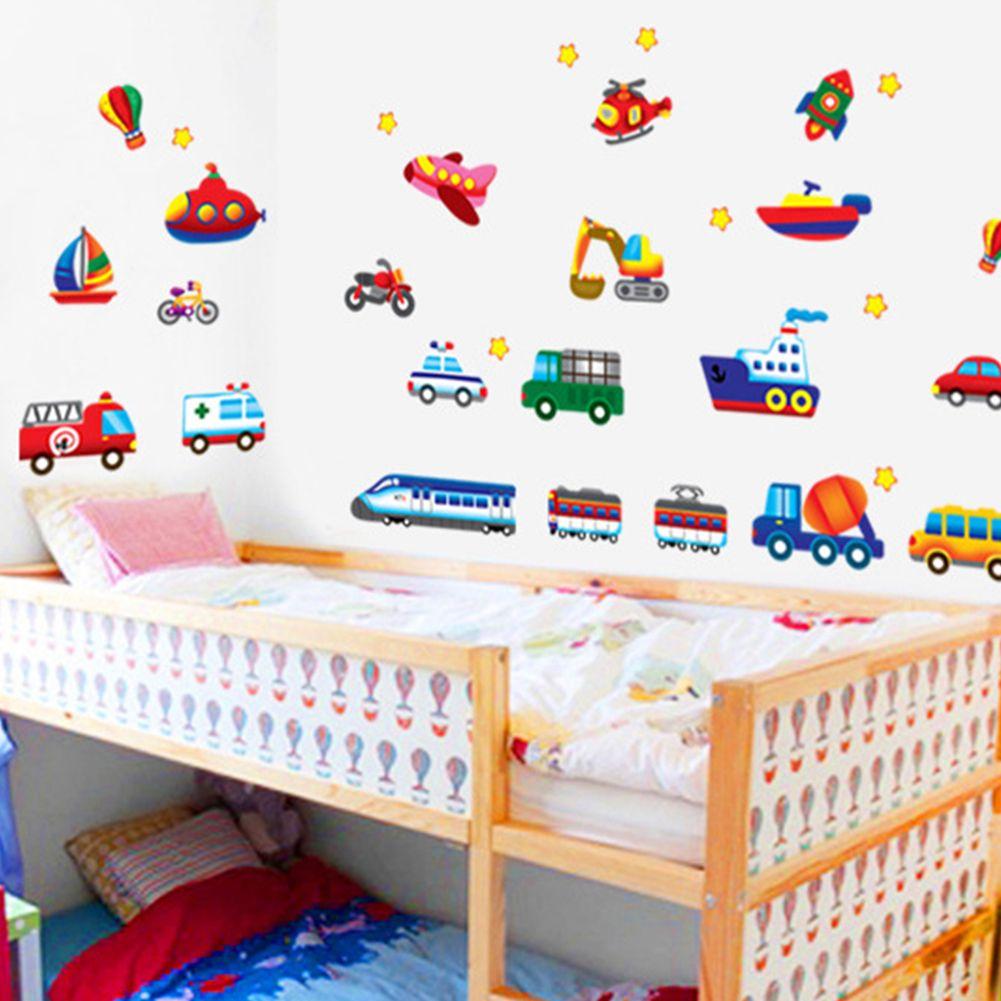 Muurstickers Voertuigen Kinderkamer