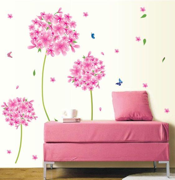 Muurstickers Roze Bloemen