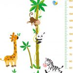 Muursticker Jungle Groeimeter