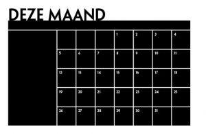Exclusive Muursticker Kalender