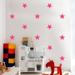 Exclusive Muursticker Sterren (Fuchsia)