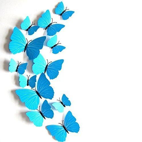 Vlinders 3D Blauw