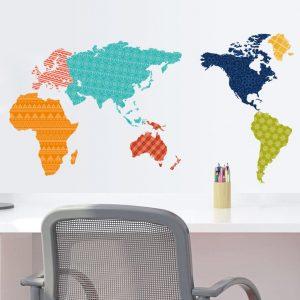 Muurstickers Wereld Kleur