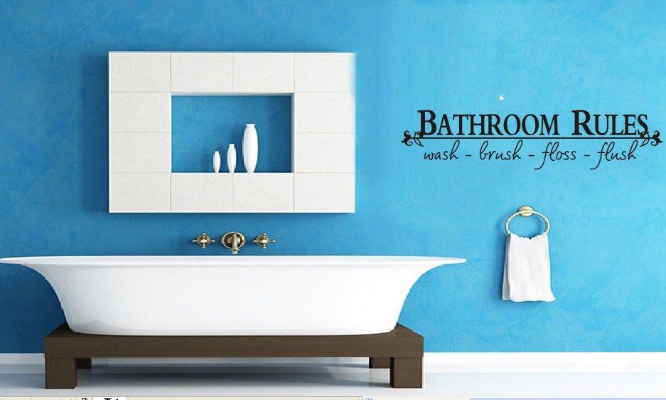 Kinderkamer Zonder Raam : Muursticker Bathroom Rules - Muurstickers ...