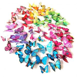 Kleurrijke 3D Vlinders set