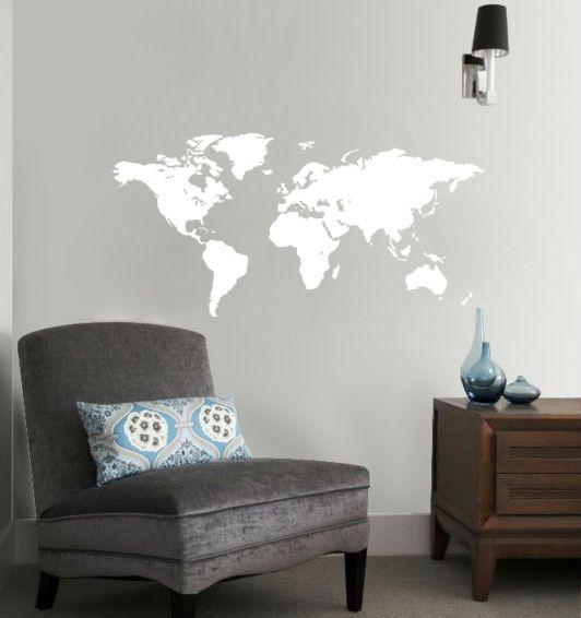 Muursticker Wereld (2)
