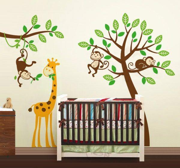 Muursticker Giraffe Kinderkamer.Boom Muurstickers Kinderkamer