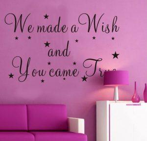 Muursticker We Made a Wish