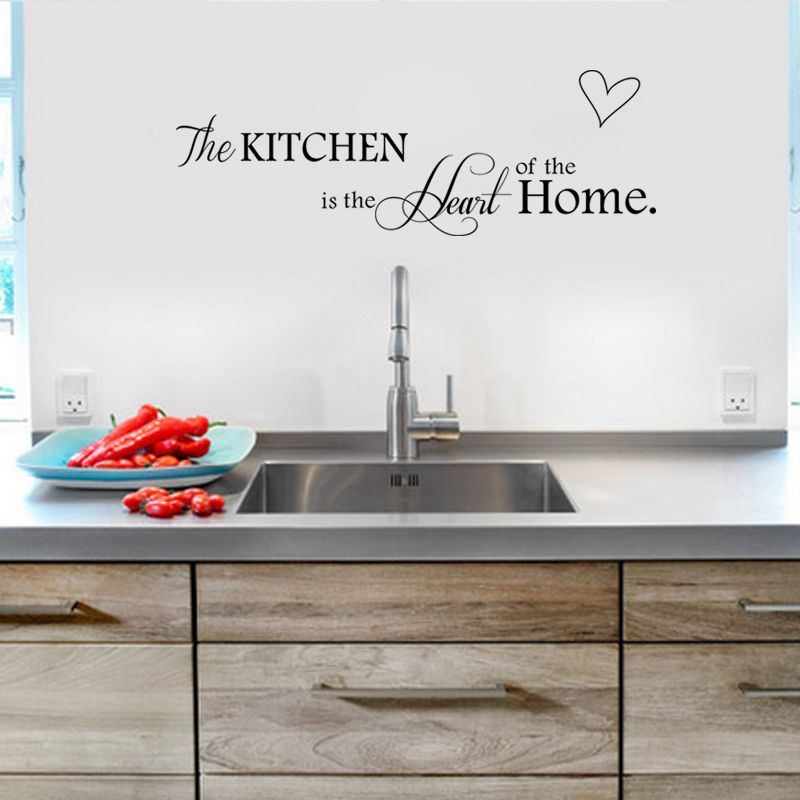 Muursticker Kitchen is the Heart of the Home