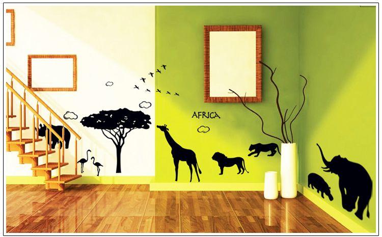 Kinderkamer Zonder Raam : African Removable Wall Decals