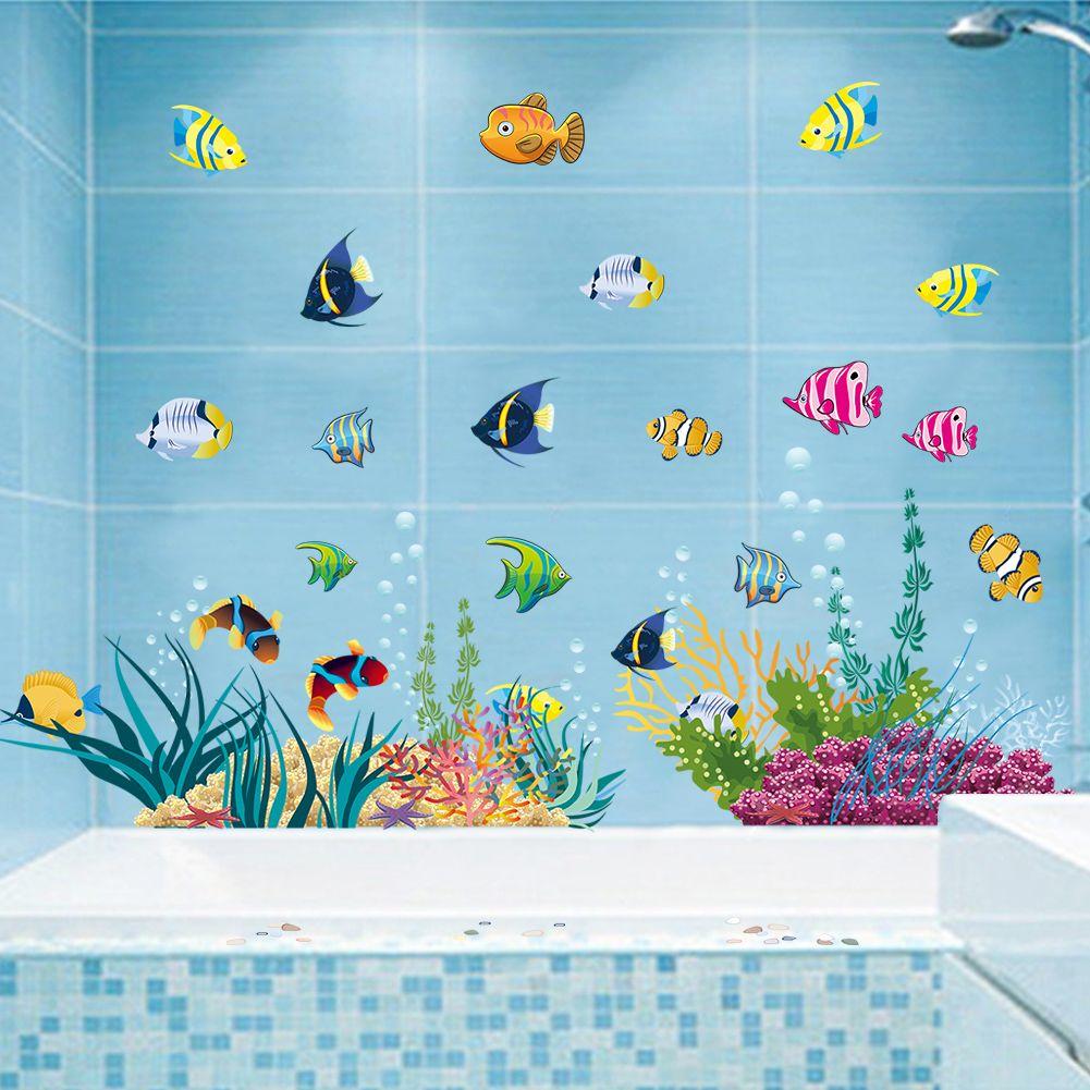 Muursticker vissen muurstickers babykamer kinderkamer for Aquarium im kinderzimmer