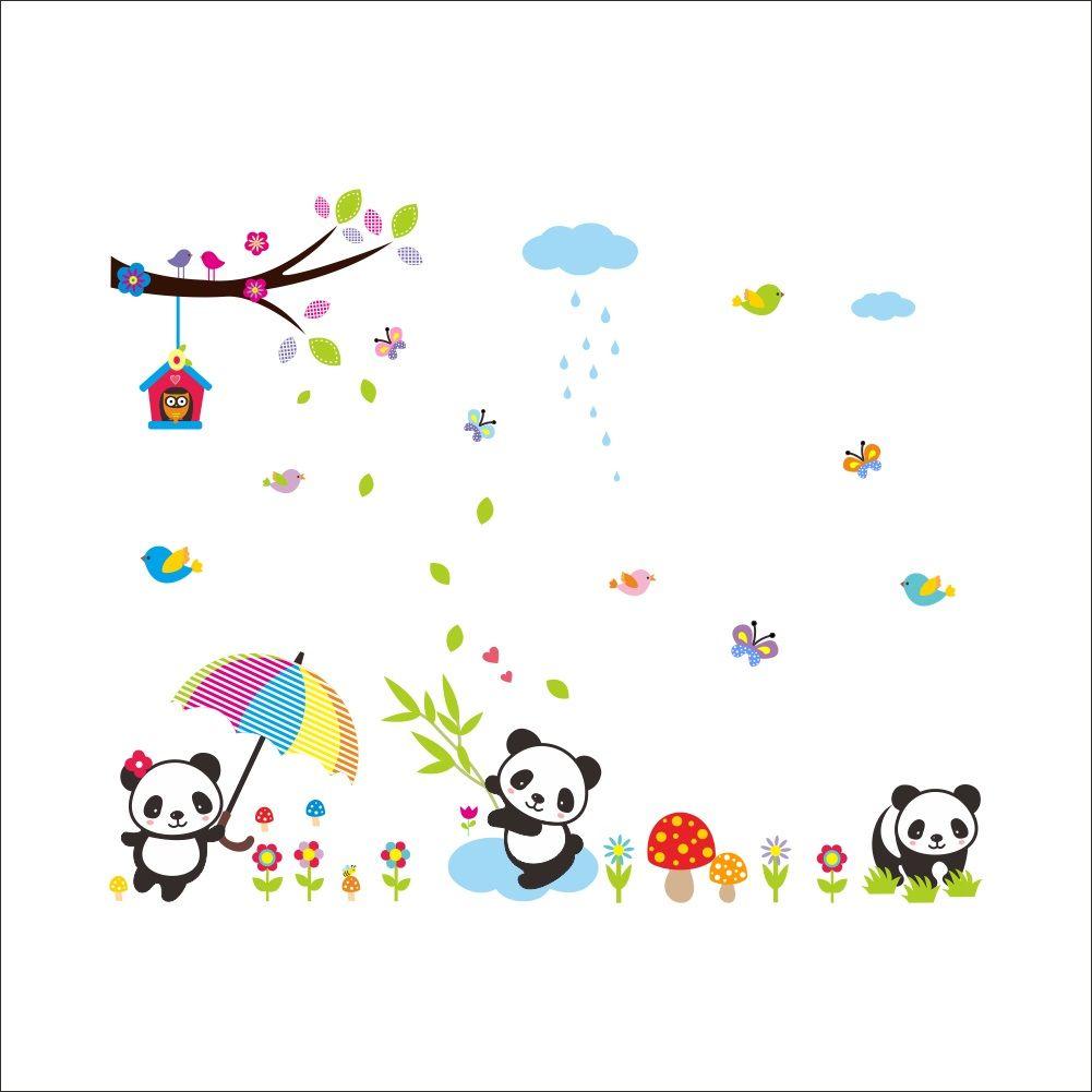 Muursticker Kleine Panda Beertjes