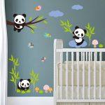Muursticker Kleine Panda Beren