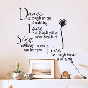 Muursticker Dance Love Sing Live