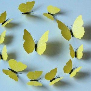 Vlinders 3D Geel