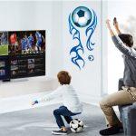 Muursticker Voetbal Blauw