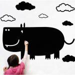 Muursticker Krijtbord Nijlpaard