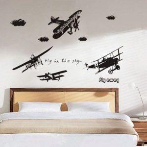 Muurstickers Vliegtuigen