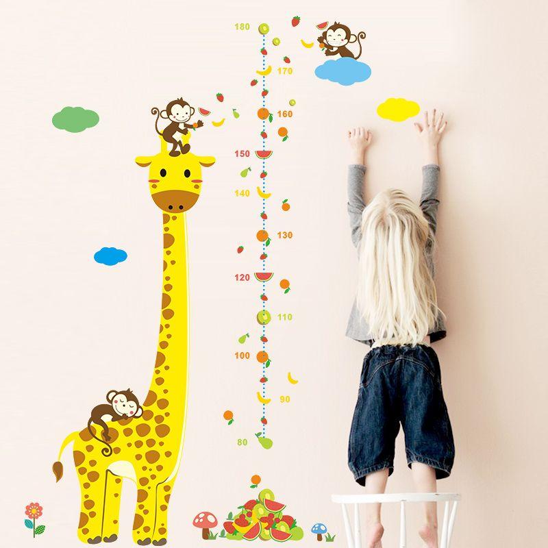 Muursticker Giraf Groeimeter