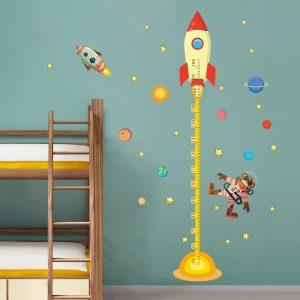 Muursticker Groeimeter Raket