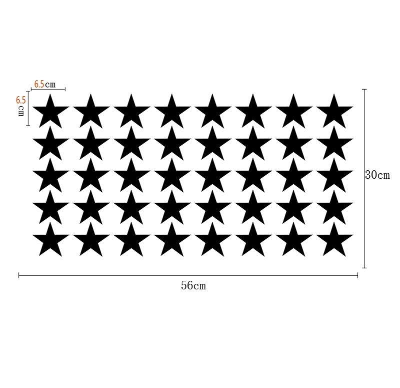 Muurstickers Sterren Normaal 6.5cm