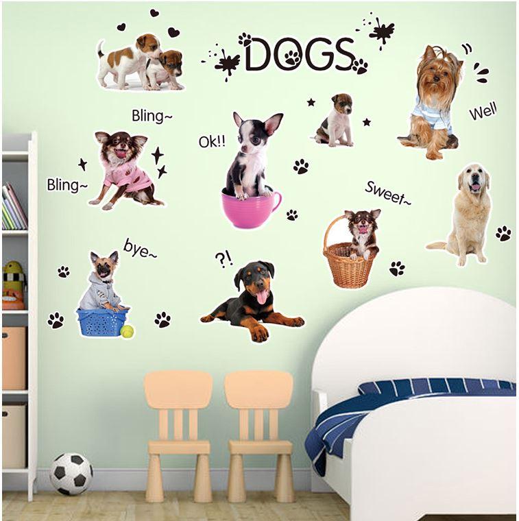 Muursticker Honden