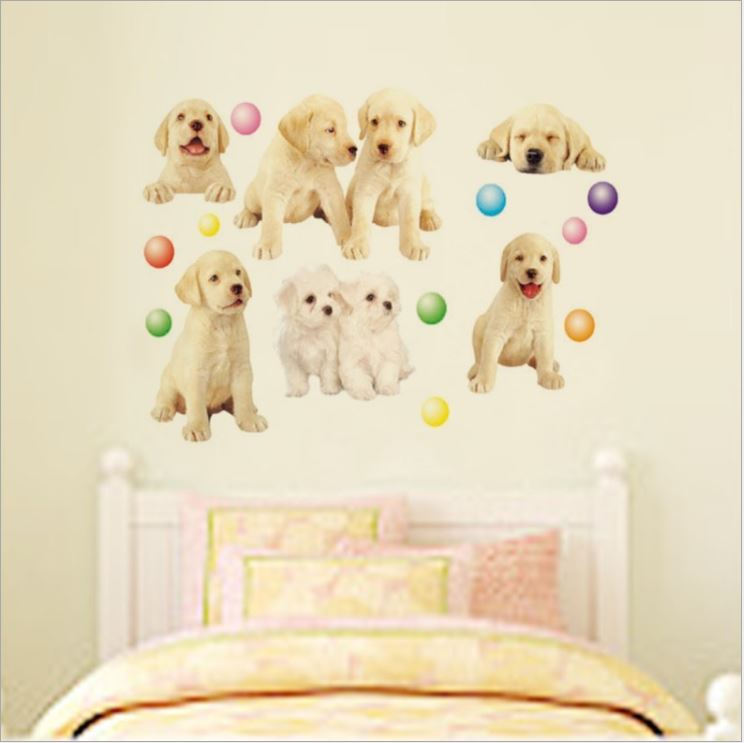 Muursticker Puppy's