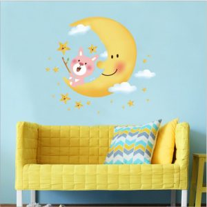 Muursticker Gele Maan