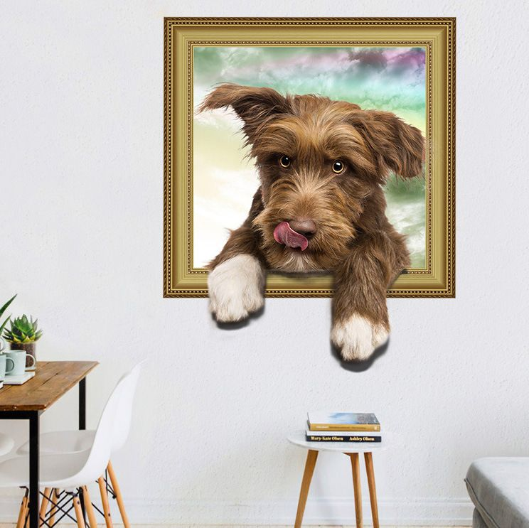 Muursticker Hond 3D